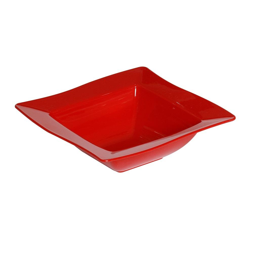 Saladeira Moove Pequeno de Polipropileno Vermelha Vemplast