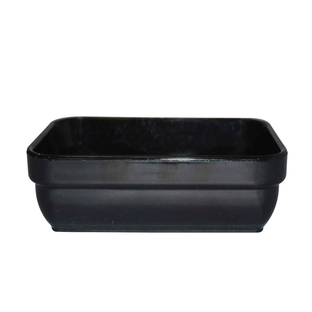 Travessa Cheff 250 ml 14x9 cm de Polipropileno Preta Vemplast