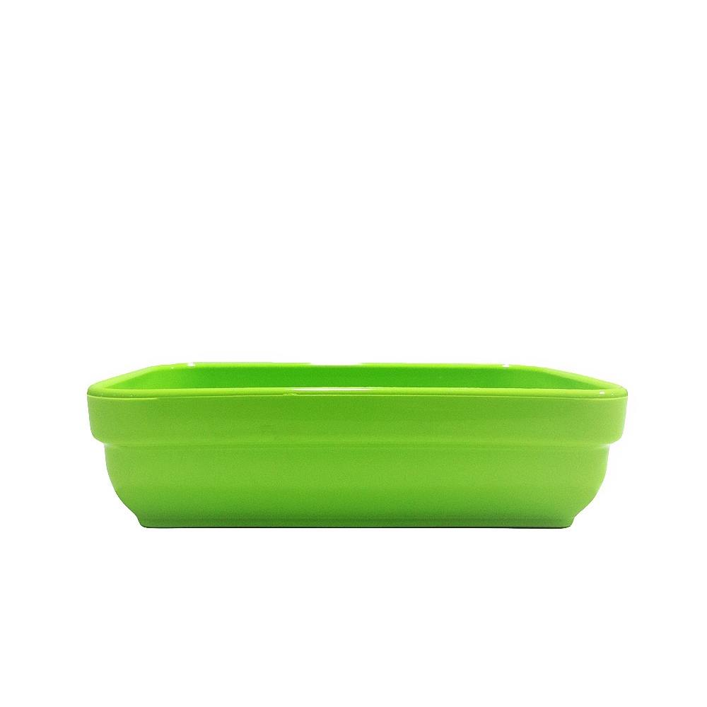 Travessa Cheff 250 ml 14x9 cm de Polipropileno Verde Vemplast
