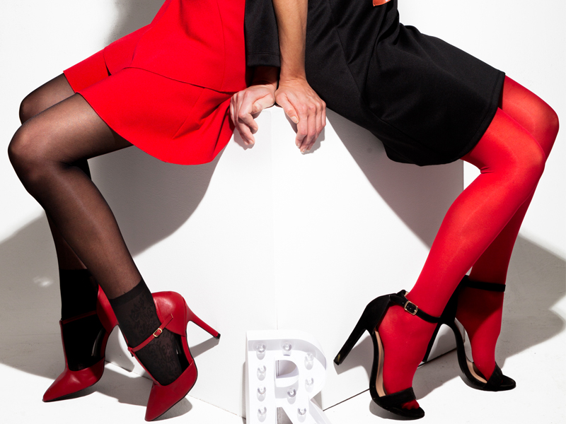 collants rouge