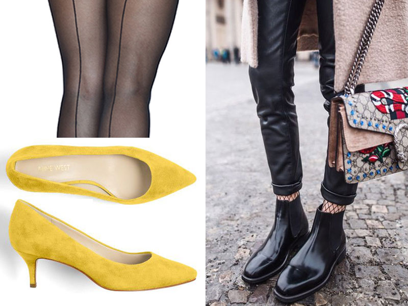 spring shoes with tights