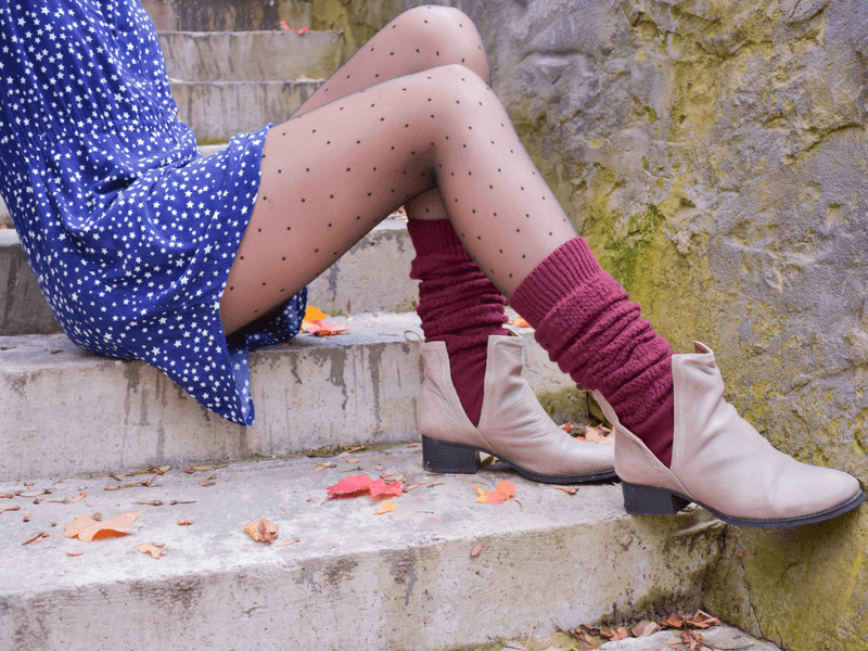 Wear leg warmers with a dress for the perfect date night look.