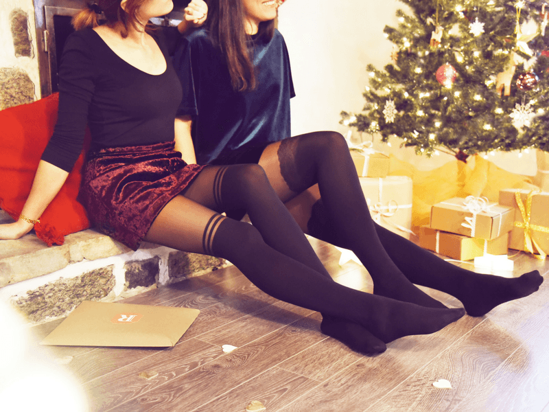 combined with our over-the-knee tights you'll get an instant festive look that is both sophisticated and fun.