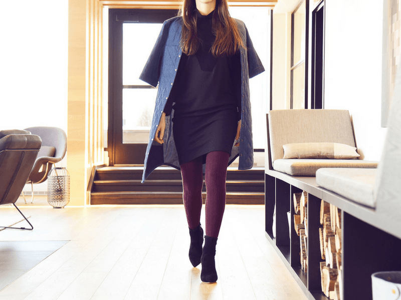 The perfect winter look starts with winter tights and is topped with lots of layers!