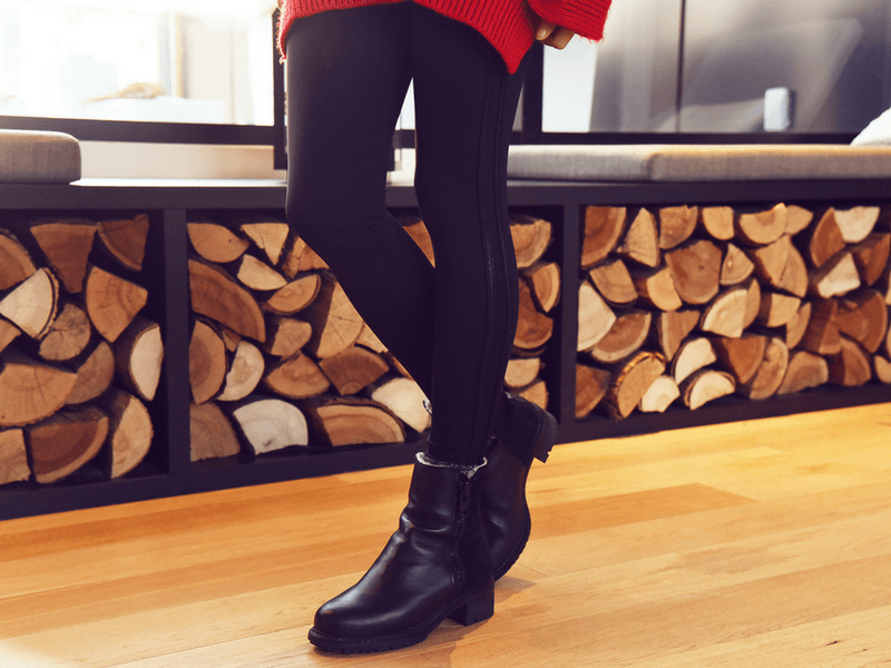 Leggings with glitter side panels are perfect for a night out.