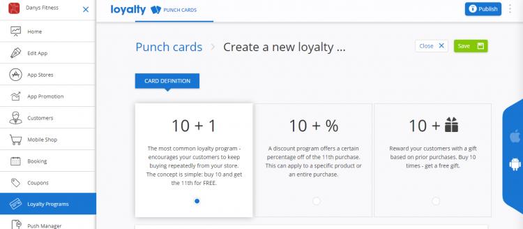 create a new loyalty card