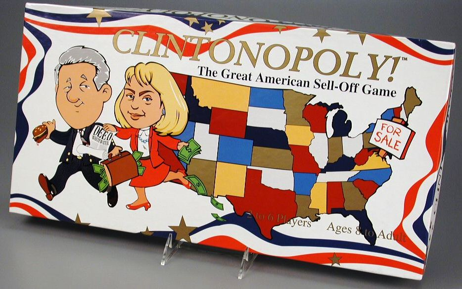Clintonopoly board game, Opoly Games N Things, 1995