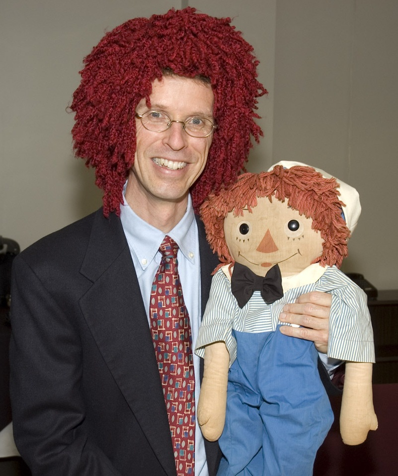Here I am, proving what a good sport I can be during Raggedy Andy's induction into the National Toy Hall of Fame in 2007.