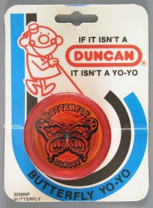 Butterfly yo-yo, Duncan Toy Co., gift of Josie Wattie and family in memory of Maurice Wattie. The Strong, Rochester, New York.