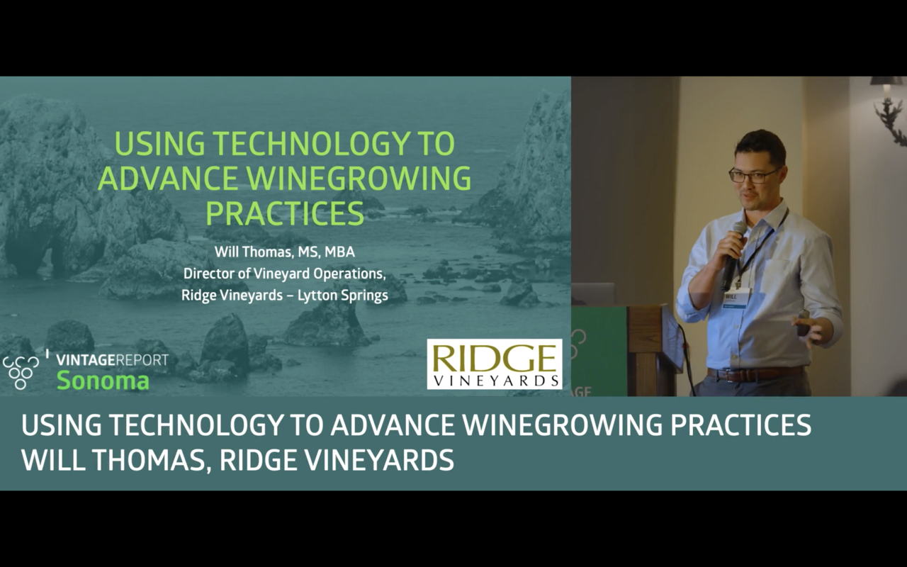Sonoma 2018 - Will Thomas - Using technology to advance winegrowing practices