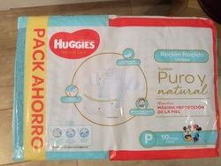 Huggies Natural Care talle P x 50 pañales