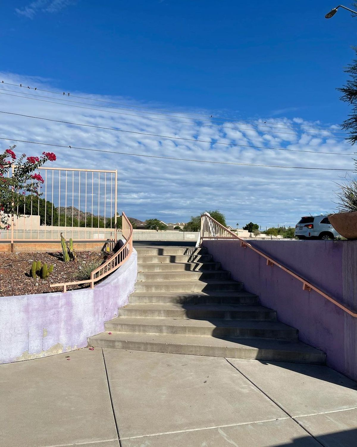 Image for skate spot N 16th St - Curved 9 Stair Pop Out Rail