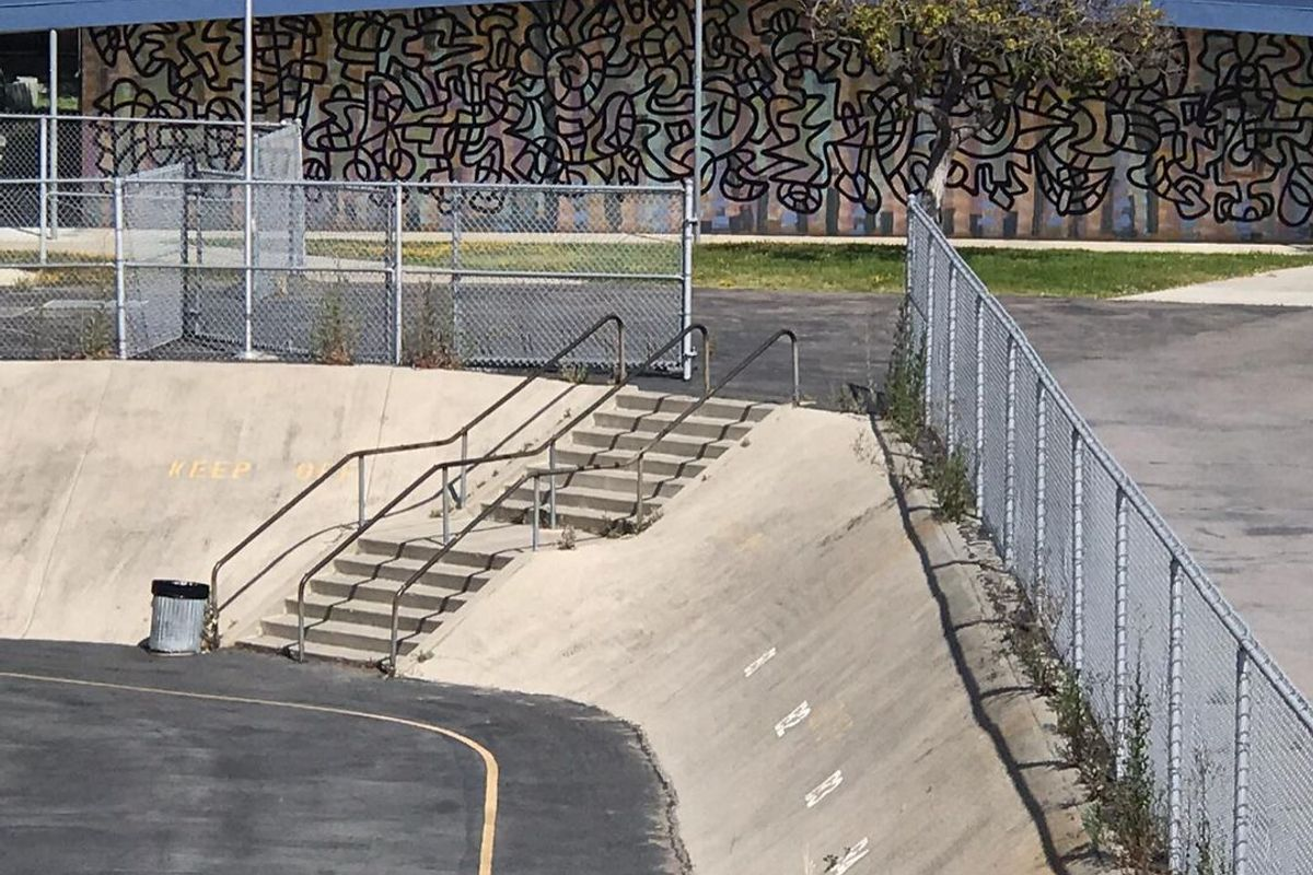 Image for skate spot Freese Elementary 7 Flat 6 Over Rail Into Bank