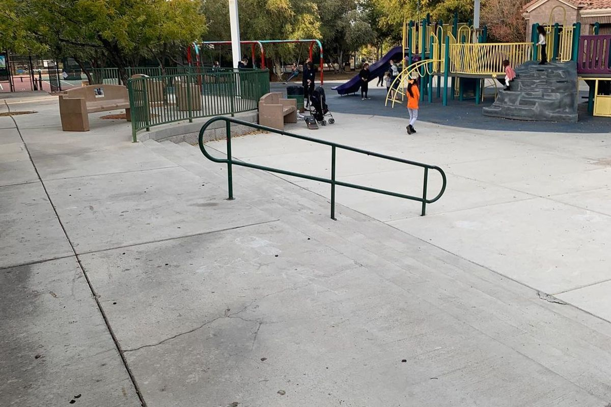 Image for skate spot Discovery Park 4 Stair Rail