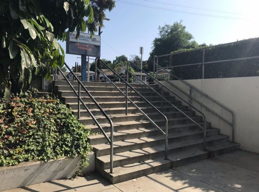 Image for skate spot Franklin High School 12 Stair Rail