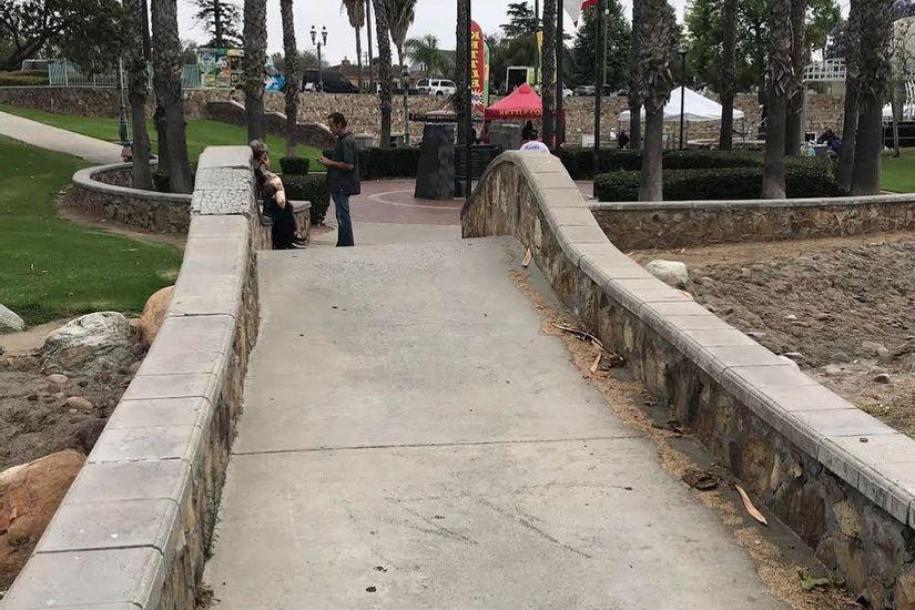 Image for skate spot Memorial Park Bridge Bump To Ledge