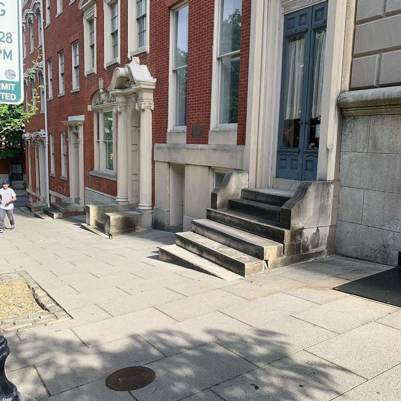 Image for skate spot George Peabody Library Ledges