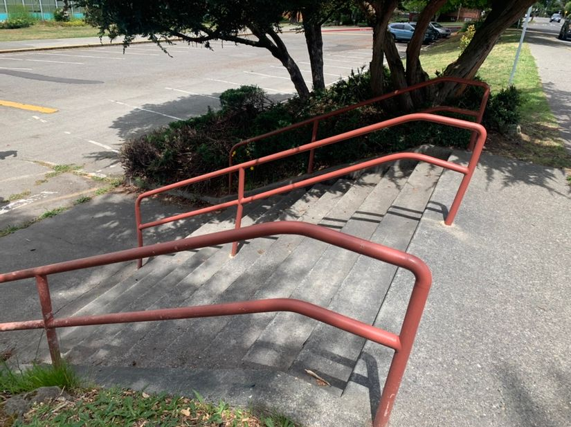 Image for skate spot Whitman Middle School - 10 Stair Rail