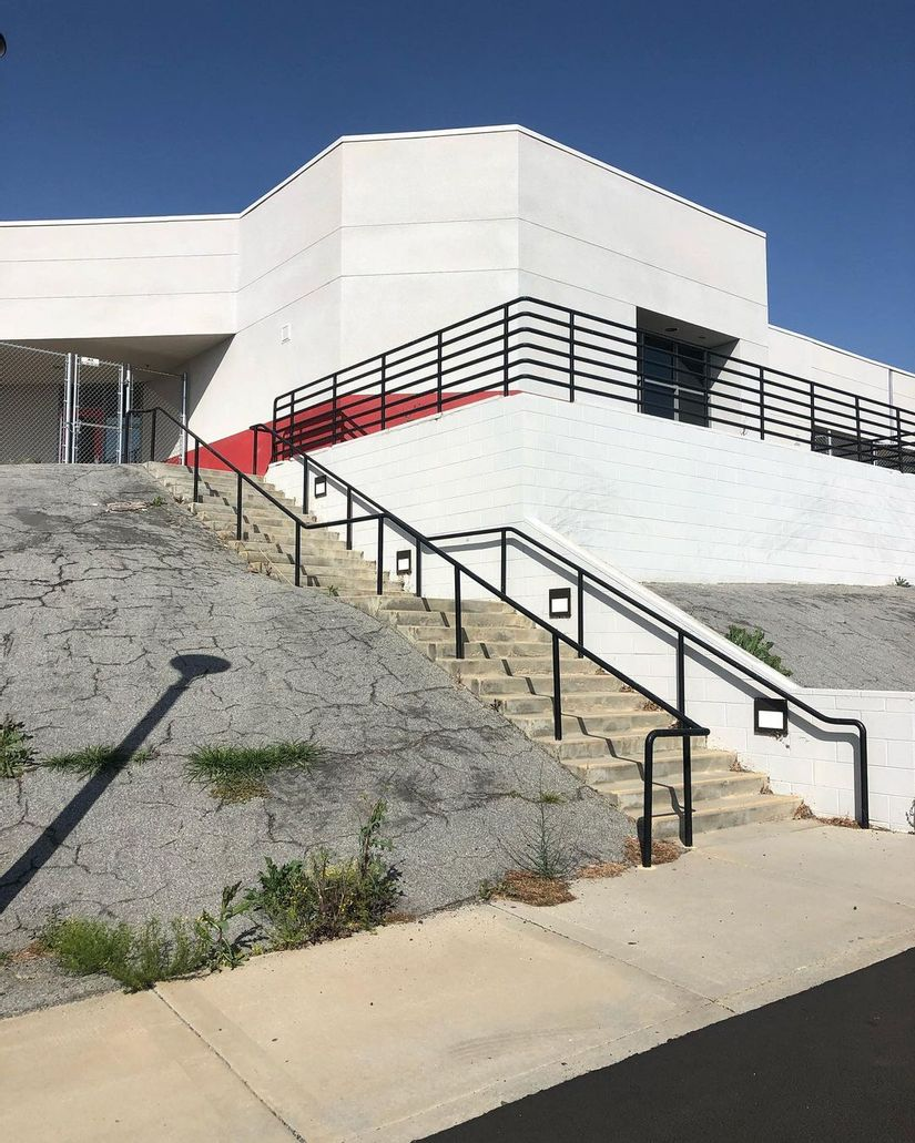 Image for skate spot Rancho Verde Highschool - Over Rail Into Bank