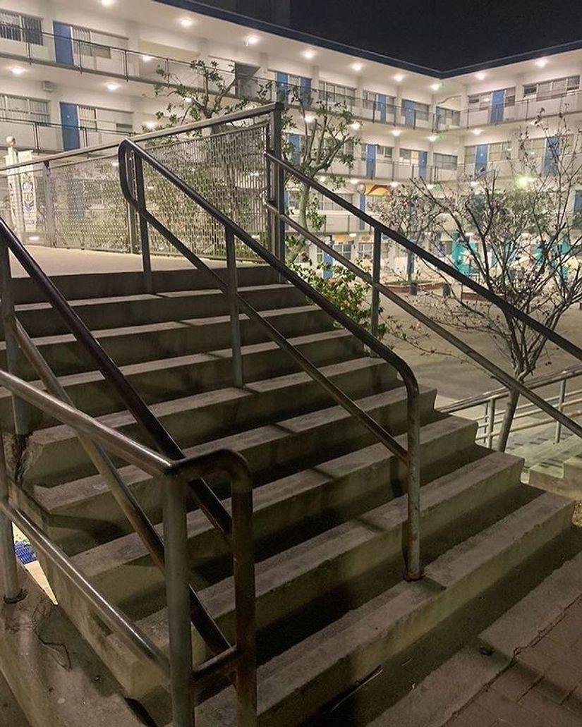 Image for skate spot Franklin High School 9 Stair Rail
