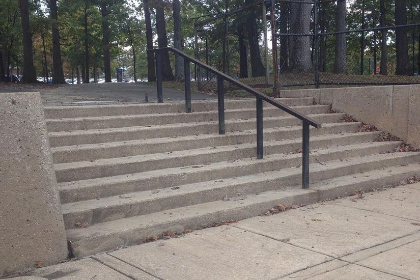 Image for skate spot Essex Community College 8 Stair Rail