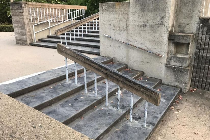 Image for skate spot Harbor Justice Center Concrete Rails
