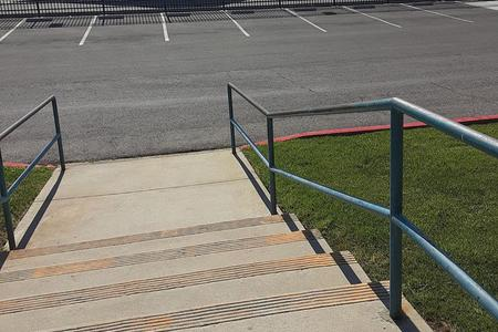 Preview image for Woodside High School 4 Stair Kink Out Rail