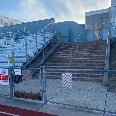 Preview image for Phillip and Sala Burton Academic School - 16 Stair Rail Through Gate