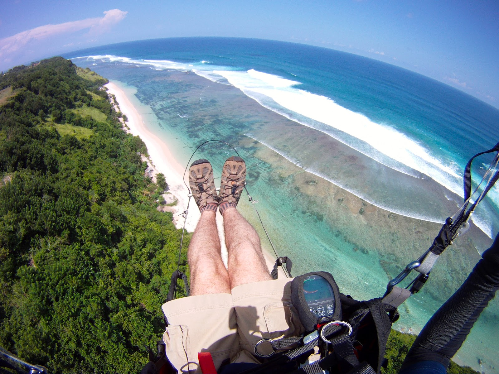 Paraglide From The Southern Cliffs Bali