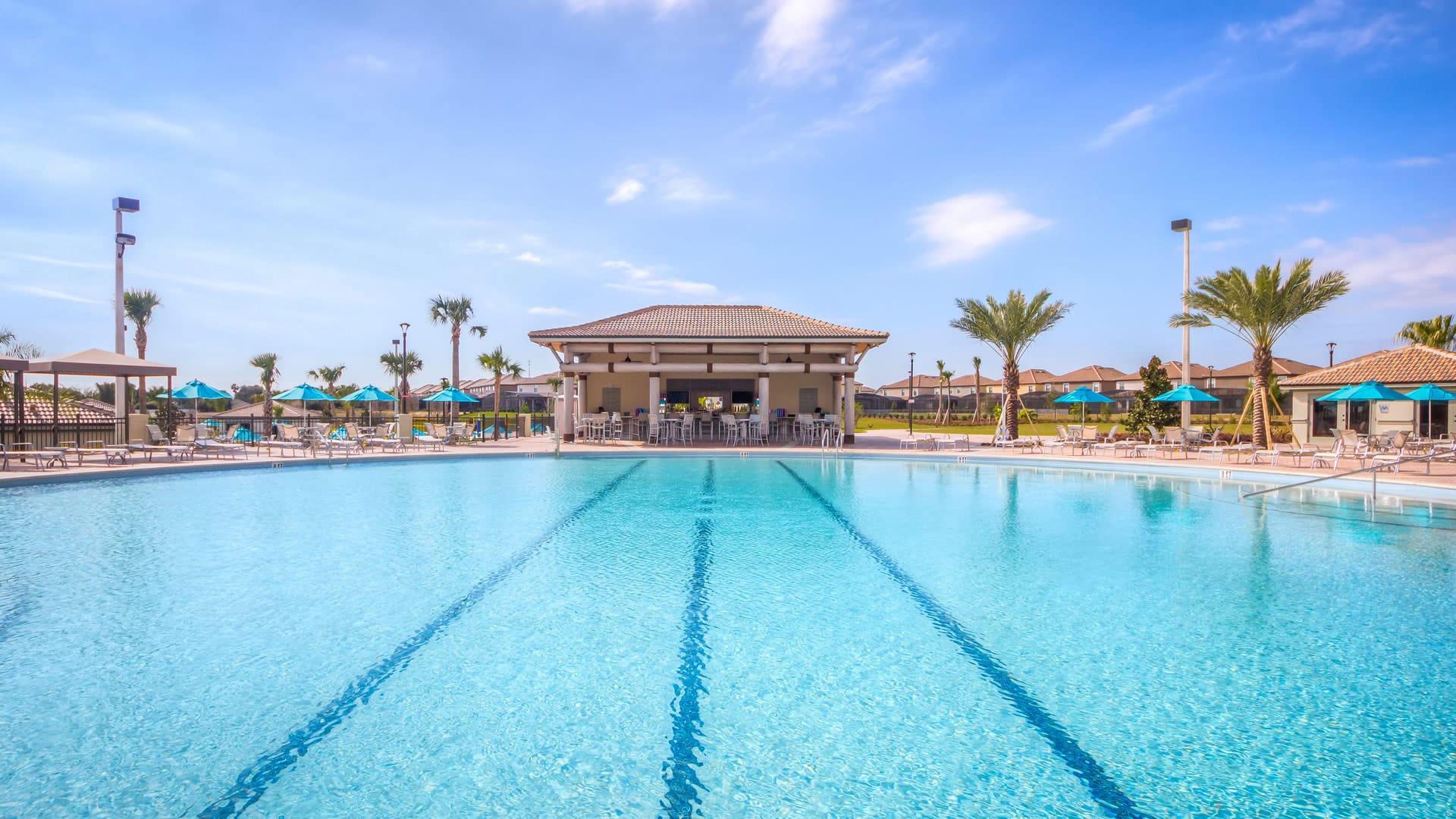 Main adult pool at Champions Gate resort