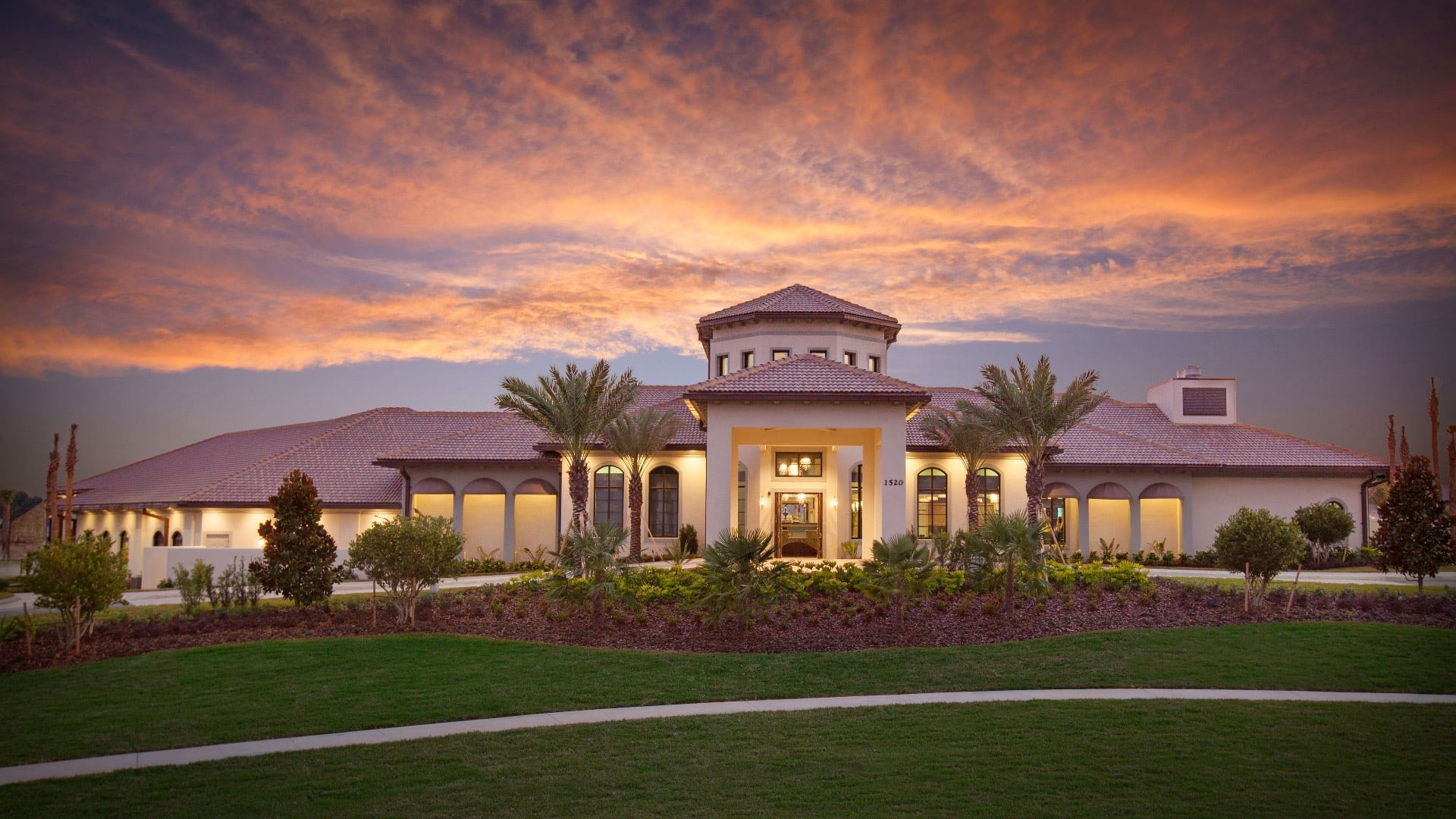 Champions Gate Club house at sunset