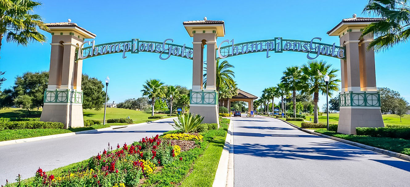 Grand entrance to Champions Gate Resort