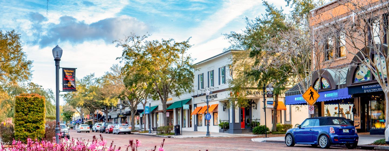 Winter Park Avenue Orlando Florida