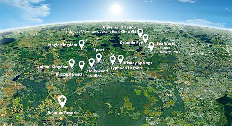 Location Map of Reunion Resort