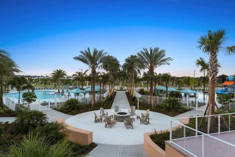 Sunset and fire put Solara Resort