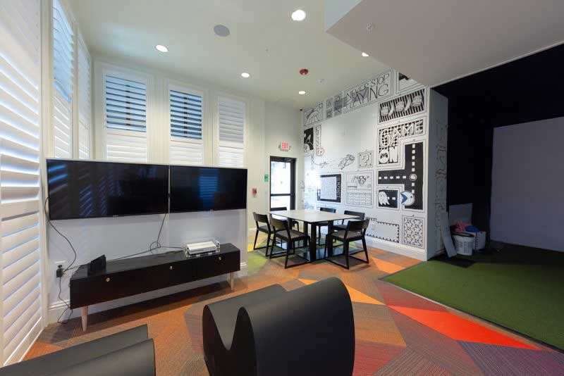 Teen lounge with Games room