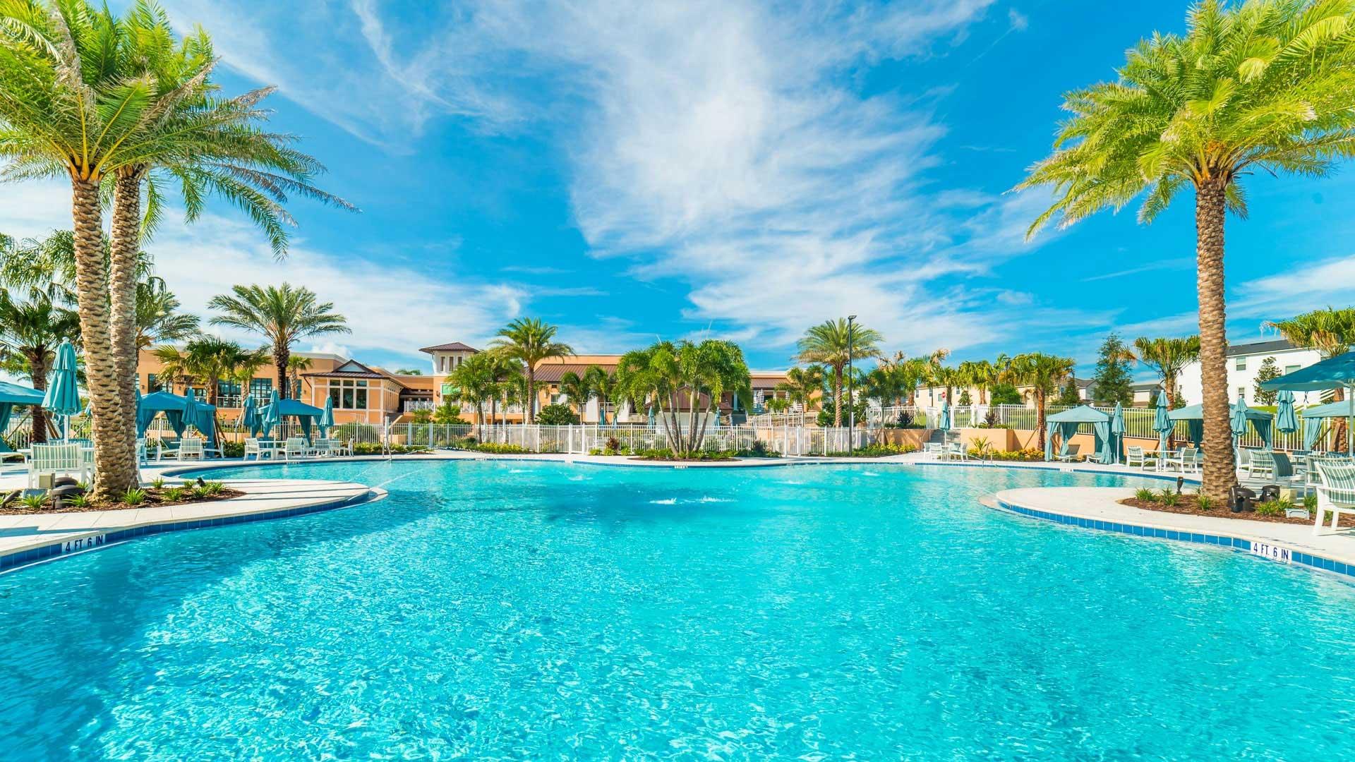 heated communal pool at Solara Resort