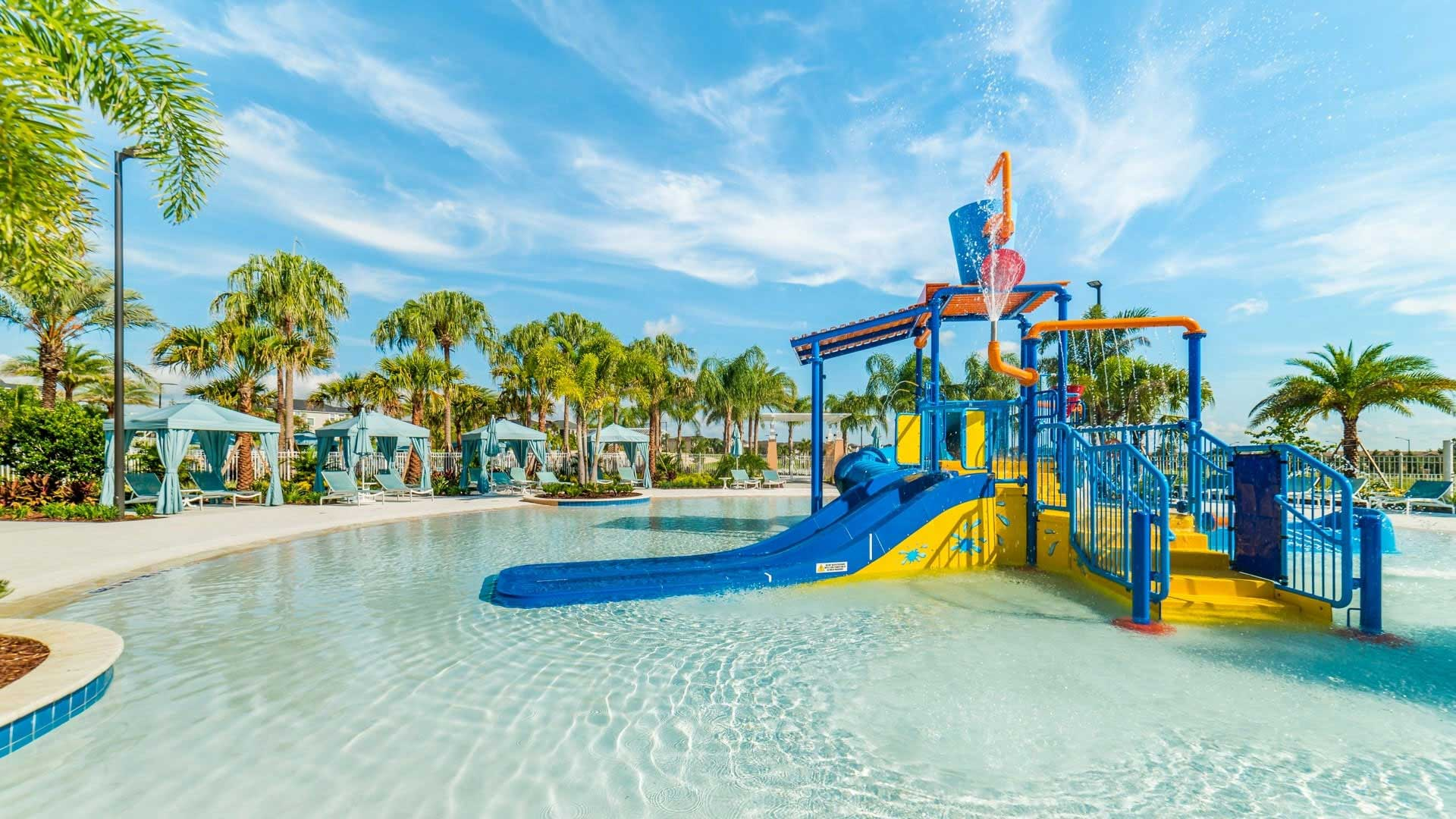 kids splash park at Solara Resort