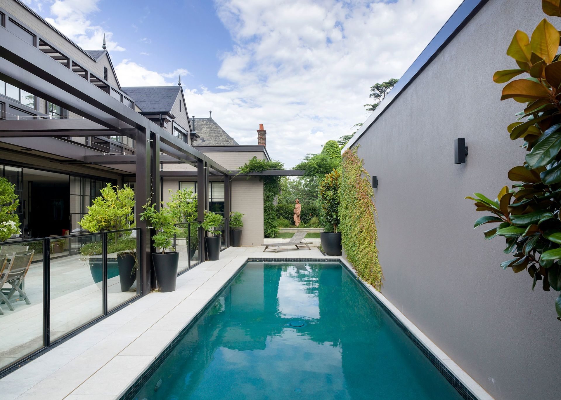 the private outdoor pool