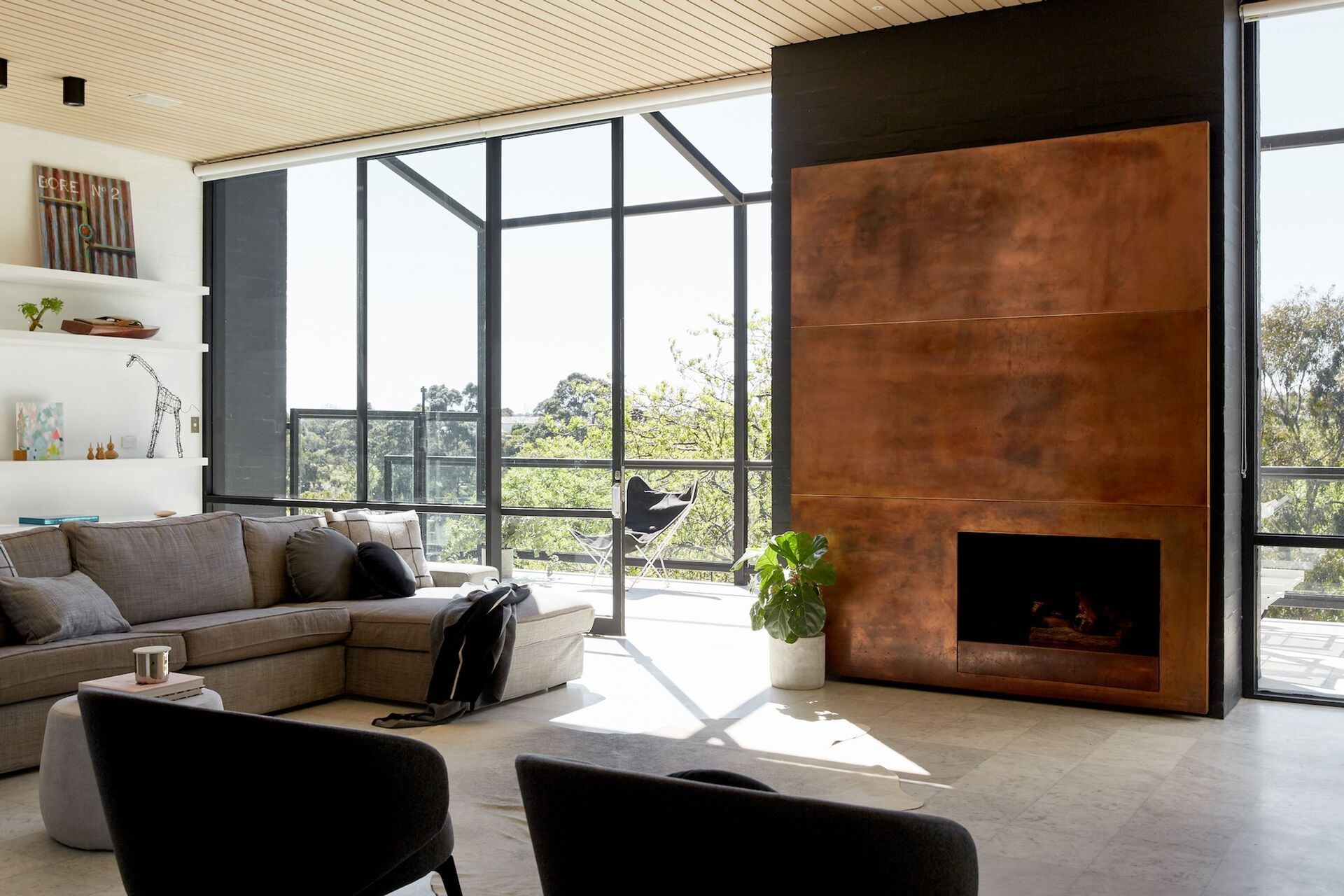 the open plan living / dining area