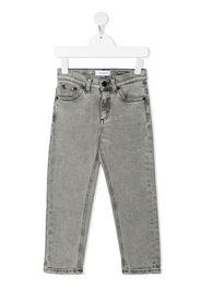 DONDUP KIDS Schmale Jeans mit Bleached-Effekt - Grau