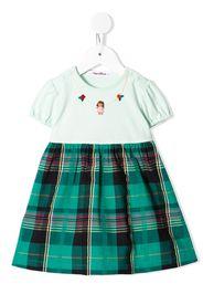 Familiar Ausgestelltes Kleid - Grün