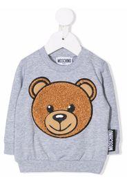 Moschino Kids Sweatshirt mit Teddy-Stickerei - Grau