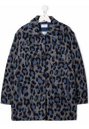 PAADE MODE TEEN Mantel mit Leoparden-Print - Grau