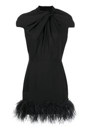 Vestito con decorazione di piume