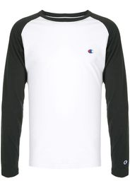 two-tone logo embroidered Tee