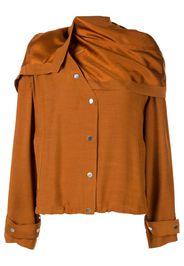 Giacca con foulard rimovibile
