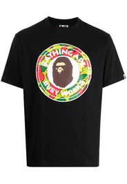 A BATHING APE® logo-print cotton T-shirt - Nero