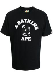 A BATHING APE® logo graphic-print cotton T-shirt - Nero