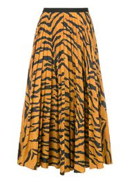 tiger print pleated skirt